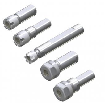 短鼻型側固直柄ERM型螺帽筒夾刀桿 & 短鼻型側固直柄ER筒夾刀桿